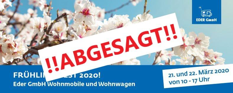 Frühlingsfest 2020 am 21. und 22. März! Bei Eder Wohnmobile in Bad Urach-Wittlingen