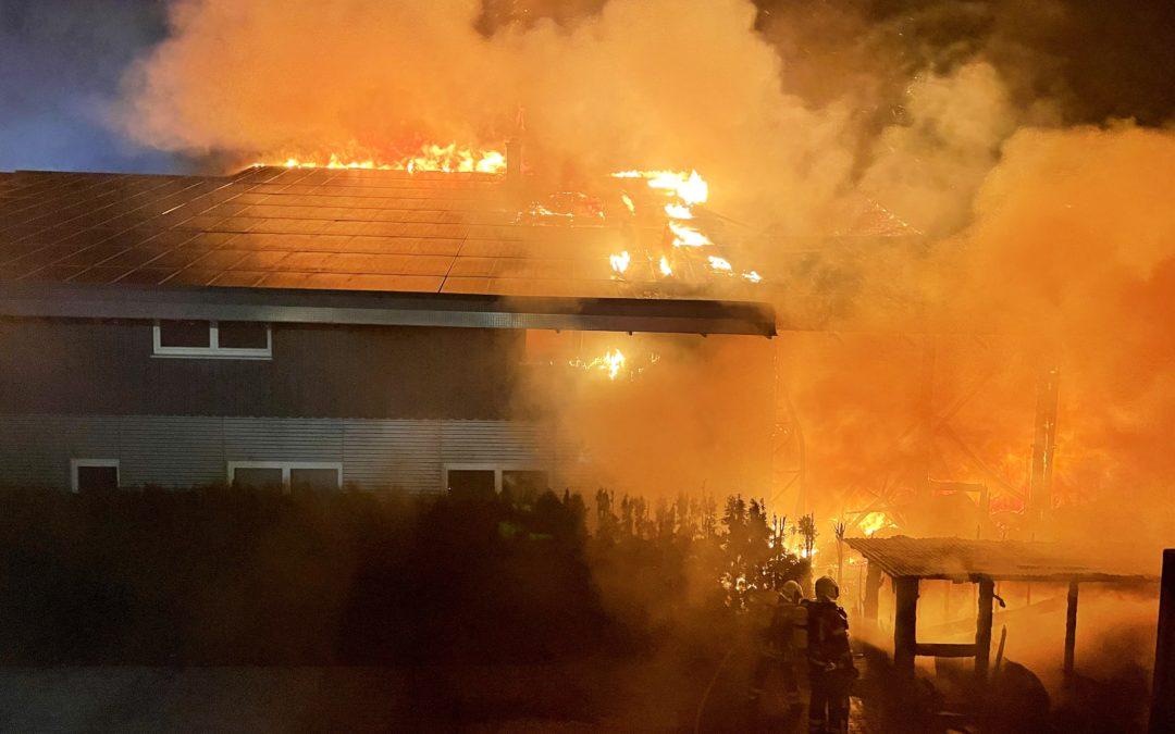 Brand im Bad Urach-Wittlinger Gewerbegebiet